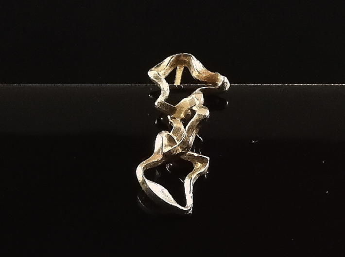 Mind generated earring - my idea against racism 3d printed Art, memory and diversity against racism!
