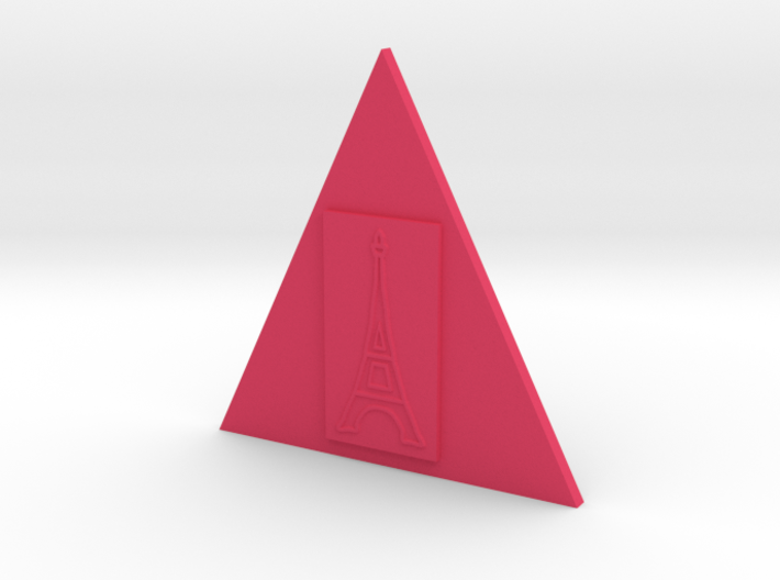 Eiffel Tower In A Triangle Button 3d printed