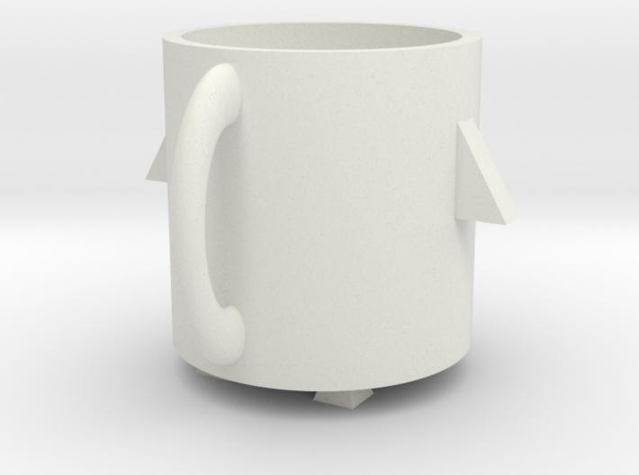 Rocket mug 3d printed