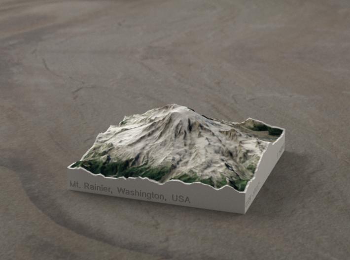 Mt. Rainier, Washington, USA, 1:150000 Explorer 3d printed