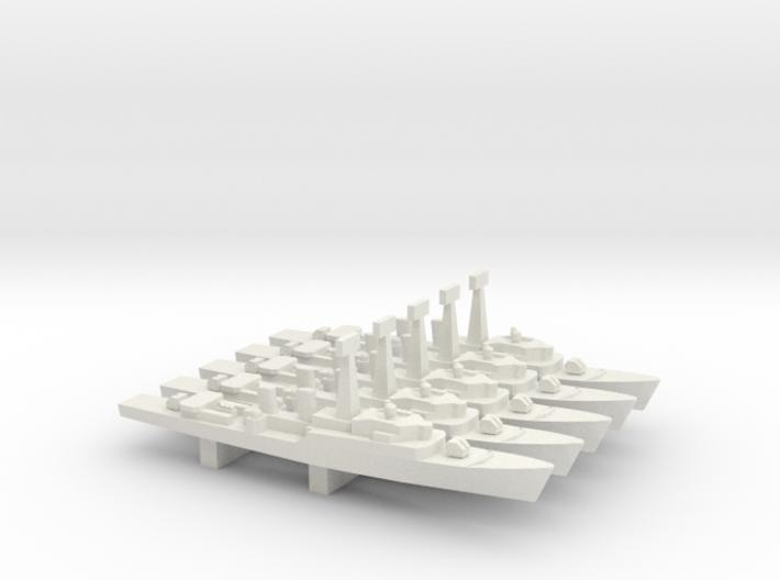 Tribal-class frigate x 5, 1/2400 3d printed