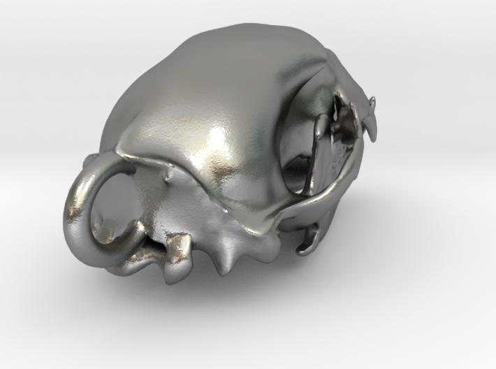 Bear skull pendant 3d printed