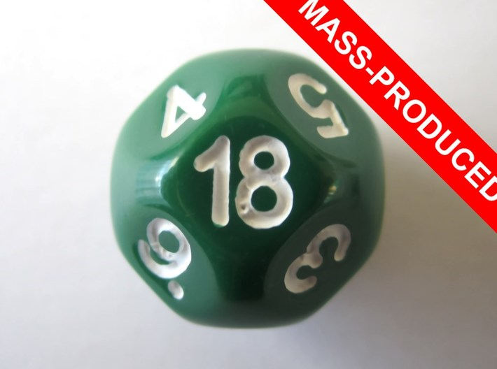 D18 Sphere Dice 3d printed the mass-produced version