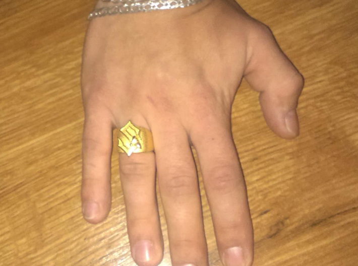 Sabaton Ring (male) 3d printed photo courtesy of Abrasax365
