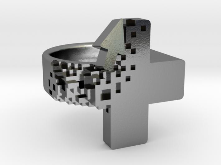 Pixel Plus Ring 3d printed
