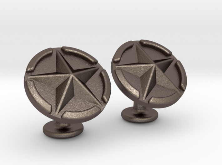 US Army Star Cufflinks 3d printed