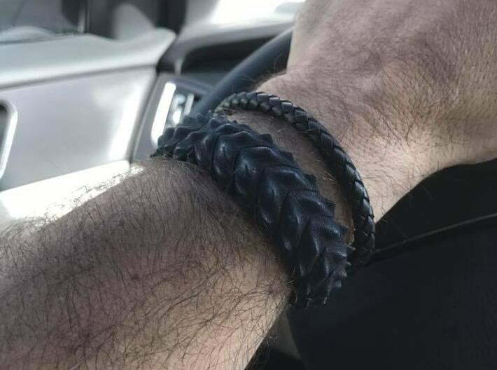 Hard Shred Cuff bracelet   Narrow  3d printed