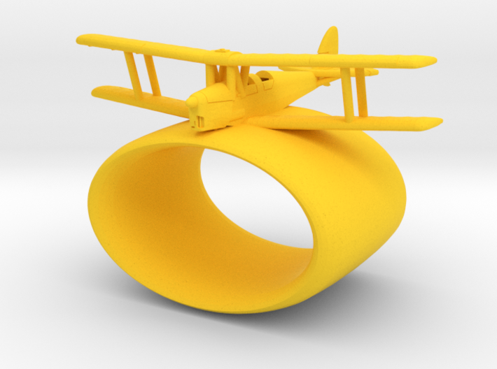 Tiger Moth Woggle 3d printed
