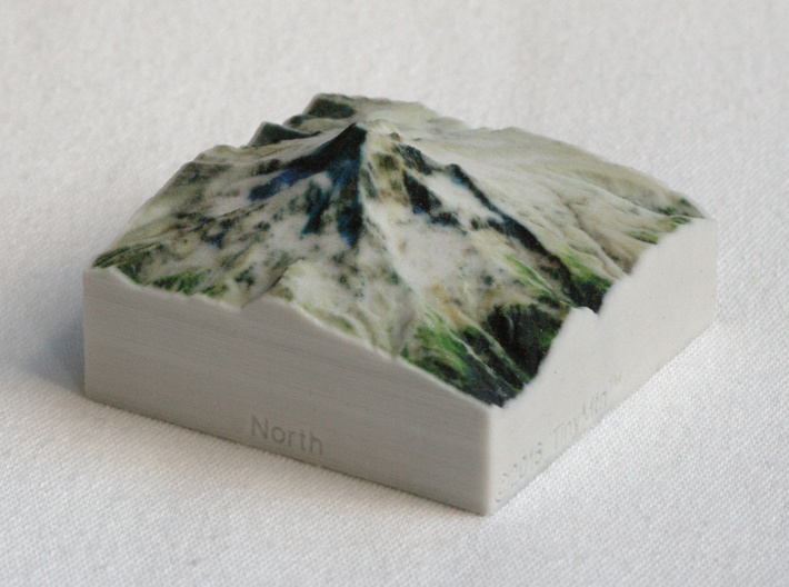 Mt. Hood, Oregon, USA, 1:100000 Explorer 3d printed