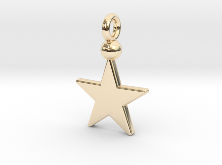 Star Pendant 1 3d printed