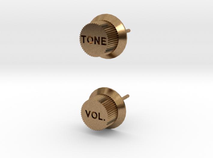 Guitar Knob Ear Stud 3d printed