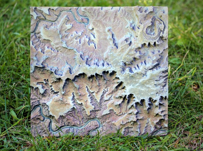 Canyonlands National Park Map 3d printed Town Down 1