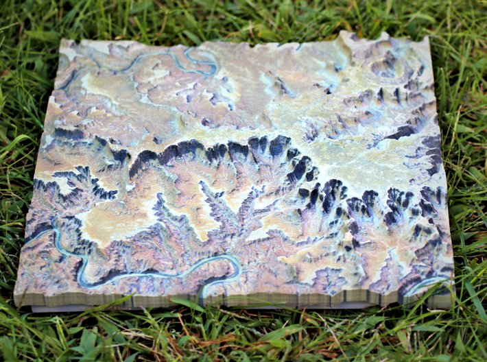 Canyonlands National Park Map 3d printed Sense of Relief