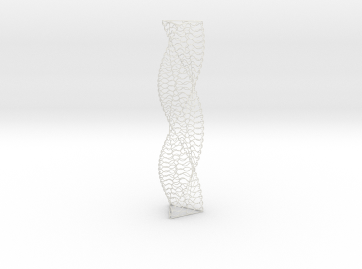 Curved Wire Spiral Triangle Shape S 3d printed