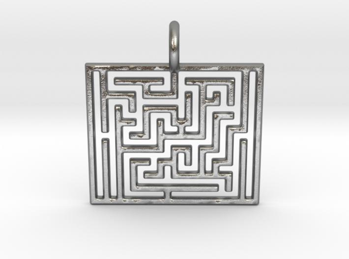 Maze Pendant 3d printed