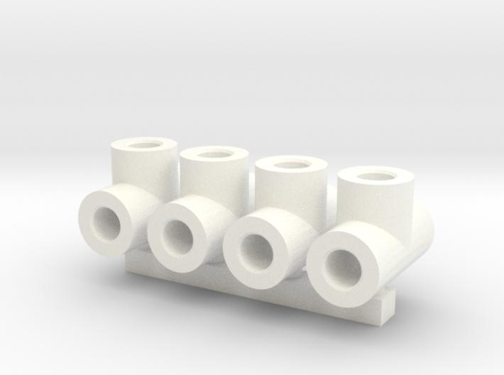 2mm stern tube oil connectors 3d printed render