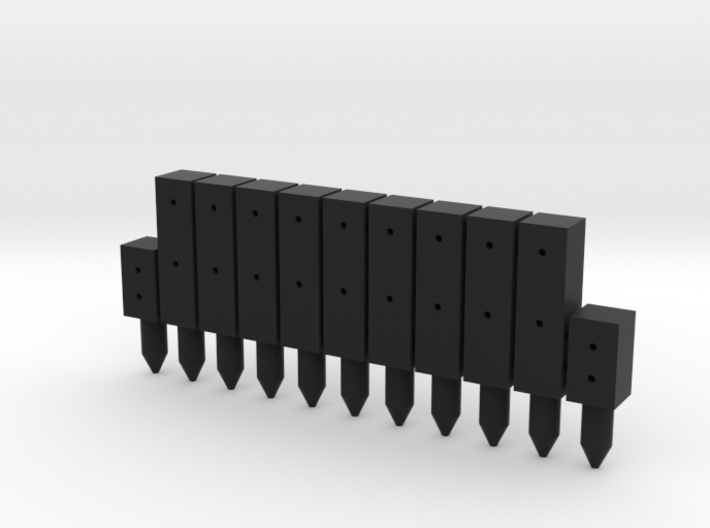 BP1-11, Square Cable Barrier Posts, 11 pcs 3d printed