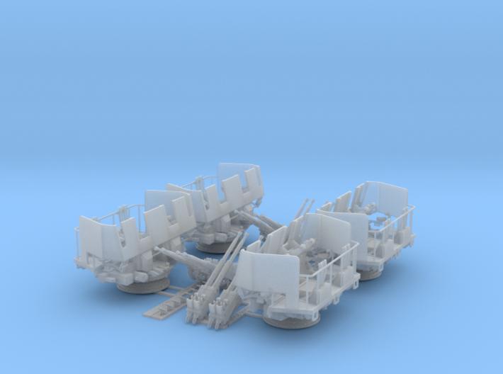 4 x Quad Bofors Shielded kit 1/96 3d printed