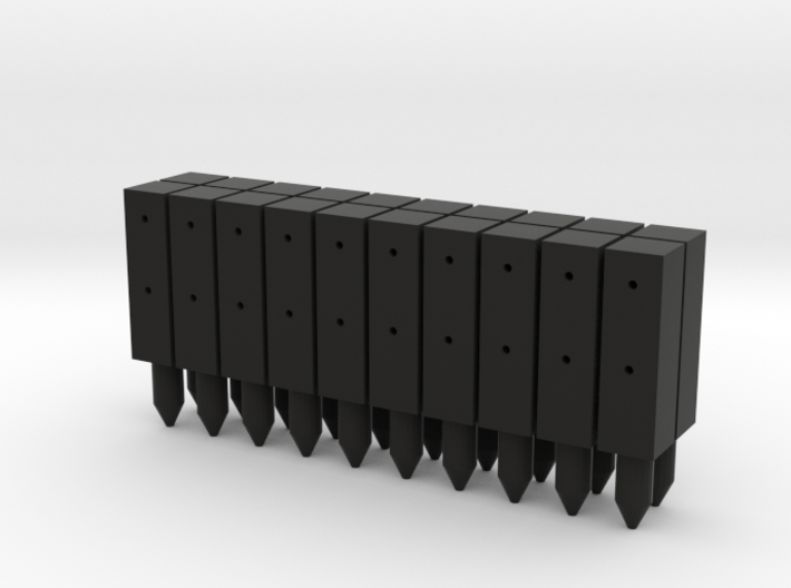 BP1-20, Square Cable Barrier Posts, 20 pcs 3d printed