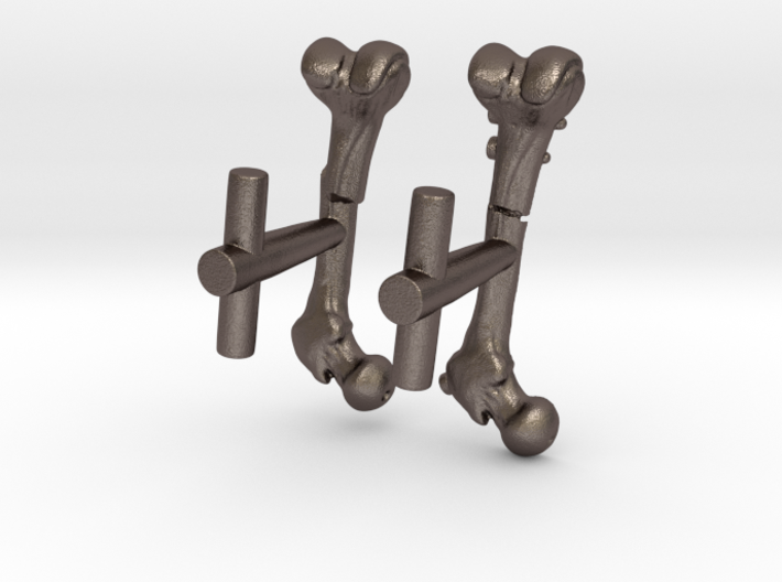 Femur Fracture and Fixation Cufflinks 3d printed