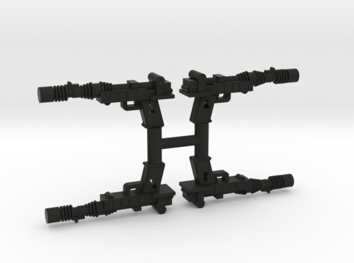 "PRHI Kenner Endor Pistol 3 3/4"" Sprue of 4x 3d printed"