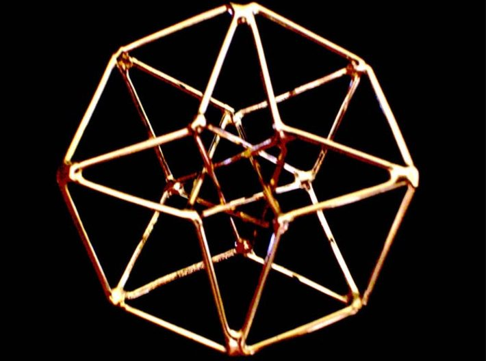 Toroidal Hypercube 35mm 1.5mm Time Traveller 3d printed Handmade Gold Plated Siver version (not Shapeways)