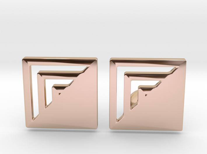 Square Designer Cufflinks 3d printed
