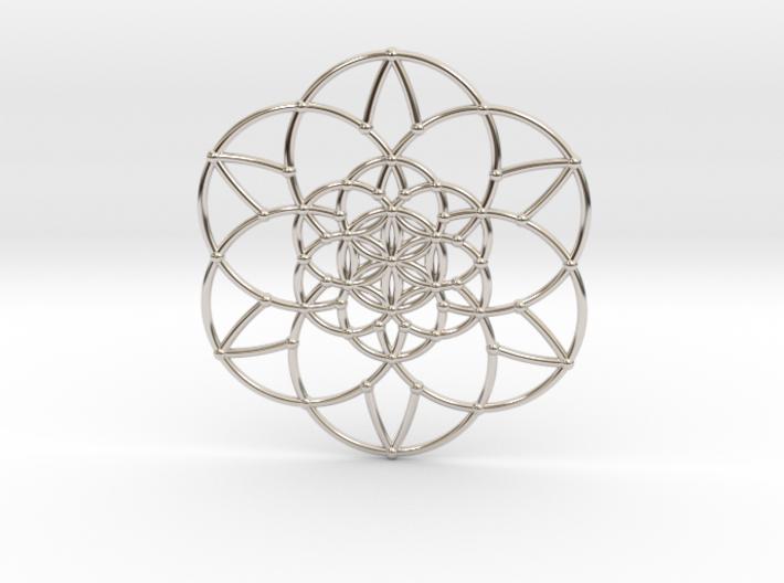 Fractal Flower of life 3d printed