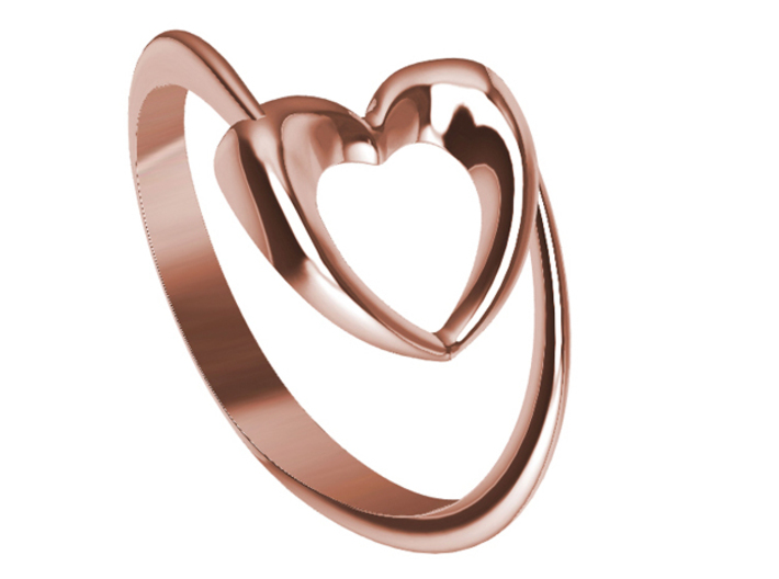 Show the love: Heart Ring 3d printed