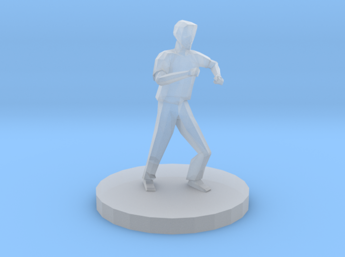 Man in Defensive Stance 3d printed