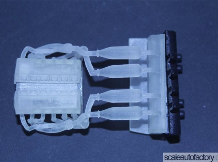 Mclaren F1 Engine V2.1 for Fujimi Scale 1/24 Kit 3d printed fit test without airbox