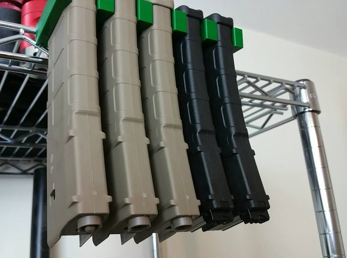 Magpul P-Mag/E-Mag Holder - Connectable 3d printed