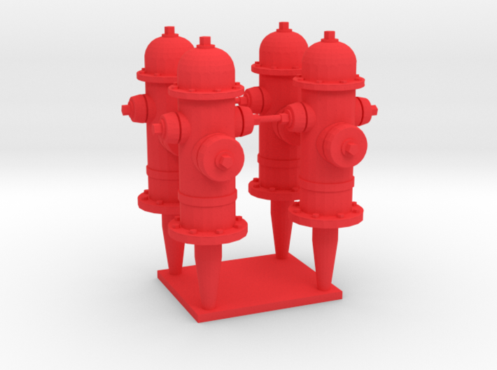 FH1, 1/32 Scale Classic Fire Hydrants 3d printed