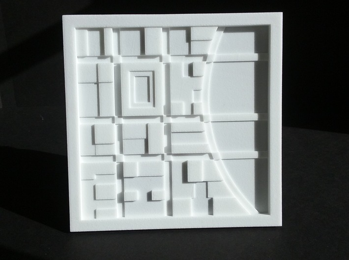 River City - abstract map 3d printed