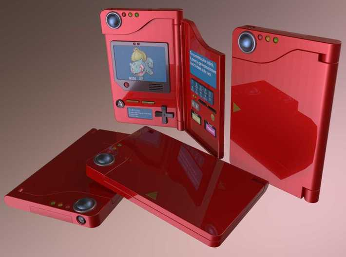 Pokédex (model HANDY505) 3d printed