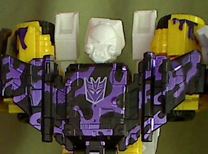 Strika Combiner head for CW Bruticus 3d printed test print from my 3d printer. blasters sold separately