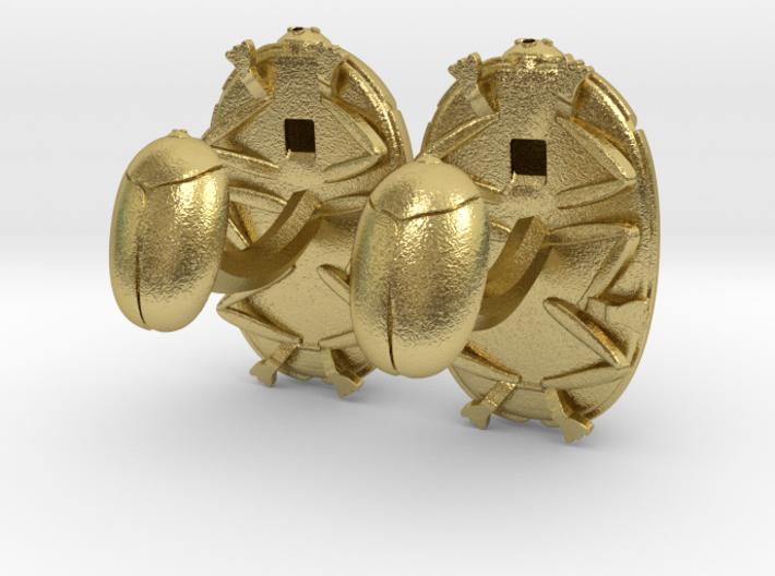 Beetle Cufflinks (2.5 cm) 3d printed