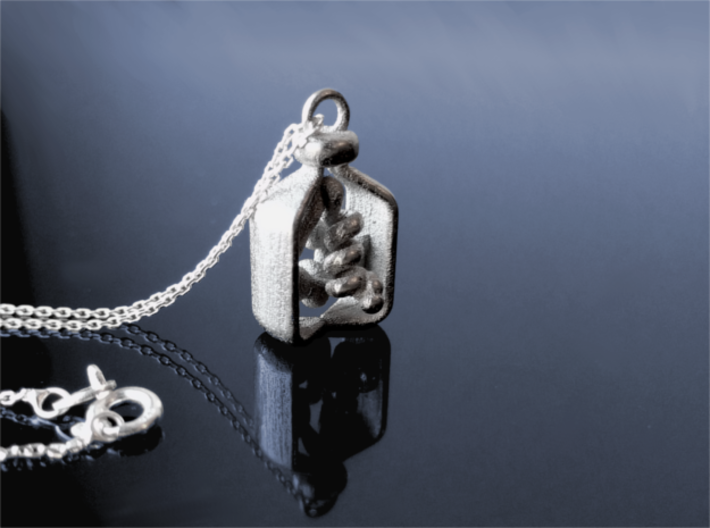 Vial of Insulin Charm - A treatment, not a cure. 3d printed Chain not included