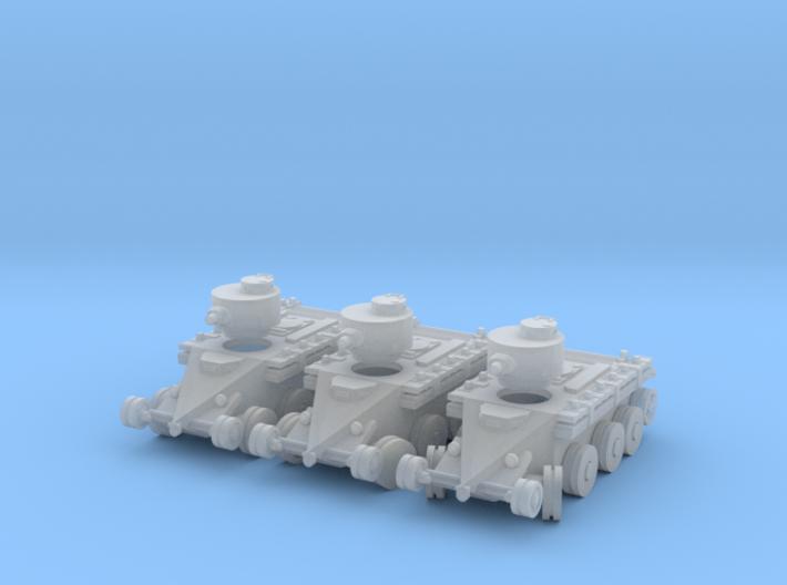 1/220 Christie T3 tank (on wheels) 3d printed
