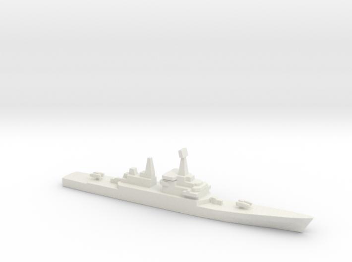 USS CGN-38 Virginia, 1/3000 3d printed