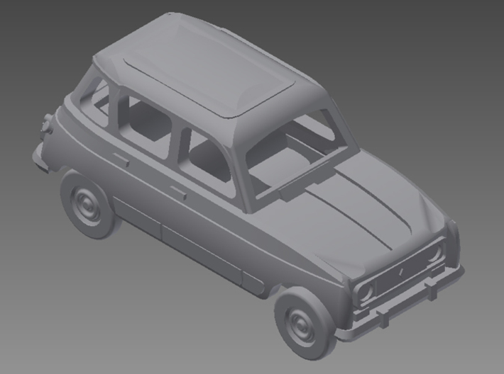 Renault 4 Hatchback 1:160 scale (Lot of 2 cars) 3d printed