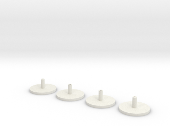 1/350 Scale HMS Hood Turrets Trumpeter Adapter 3d printed 1/350 Scale HMS Hood Turrets Trumpeter Adapter