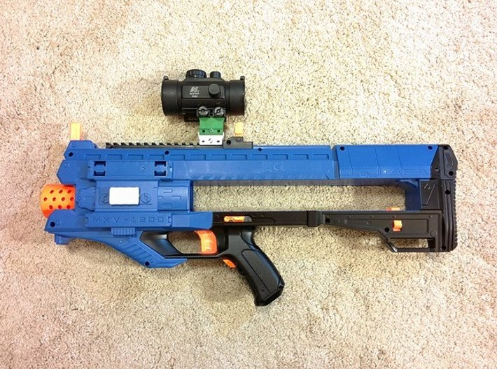 Nerf Rival to Picatinny Adapter (3 Slots) 3d printed