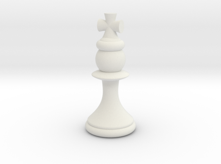 Pawns with Hats - King 3d printed