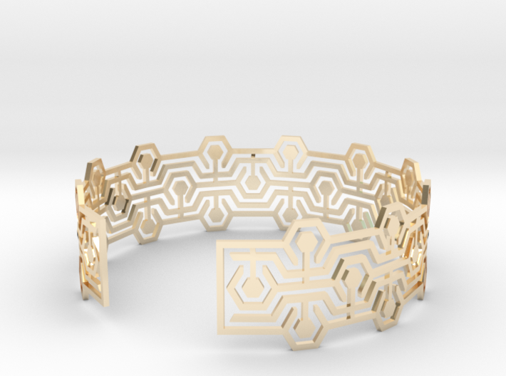 Bracelet fin Meandres 3d printed