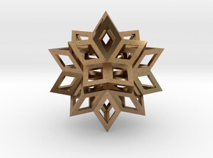 Rhombic Hexecontahedron Precious Metals 3d printed
