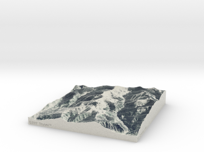 Vail in Winter, Colorado, USA, 1:50000 3d printed