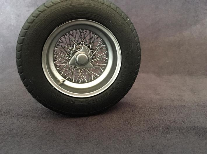 Classic spoke wheels 1/8 1:8 For Classic cars. car 3d printed