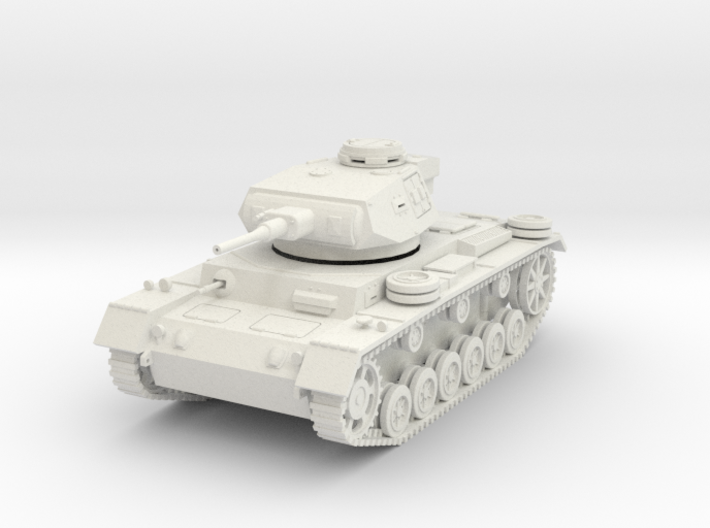 PV163A Pzkw IIIJ Medium Tank (28mm) 3d printed