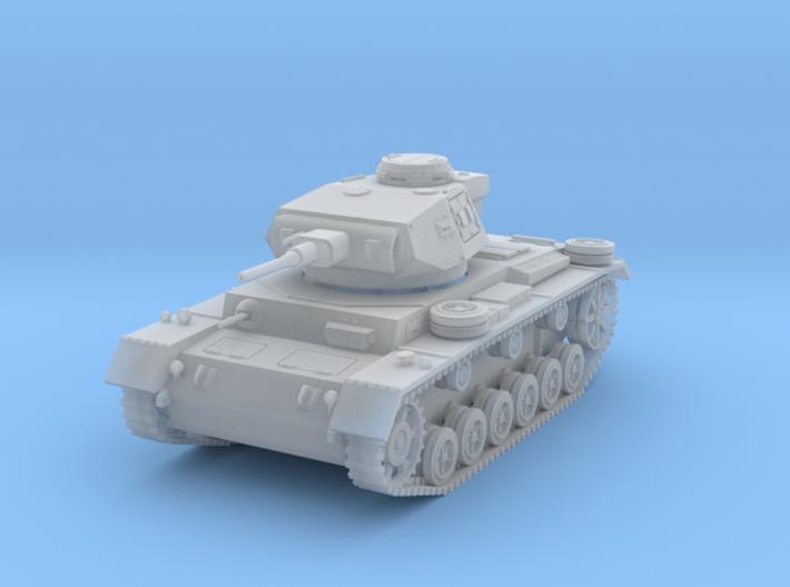 PV163C Pzkw IIIJ Medium Tank (1/87) 3d printed